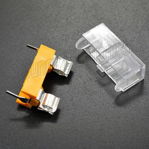 10pcs 5*20mm glass fuse holder transparent holder with transparent cover fuse blocks 5X20mm insurance header