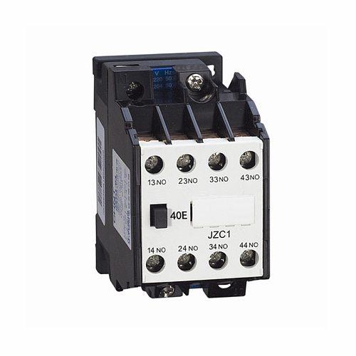 AC Motor Contactor Relay Starter Ui 660V 4NO 4 Pole 24V 110V 220V 380V 50Hz Coil Volt Ith 10A JZC1-40 DIN Rail Mount Contactor