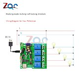 Sonoff WiFi Switch 433Mhz 4CH AC 85-220V WiFi Switch Timer Relay Module RF with 433MHz Remote Controller for Smart Home