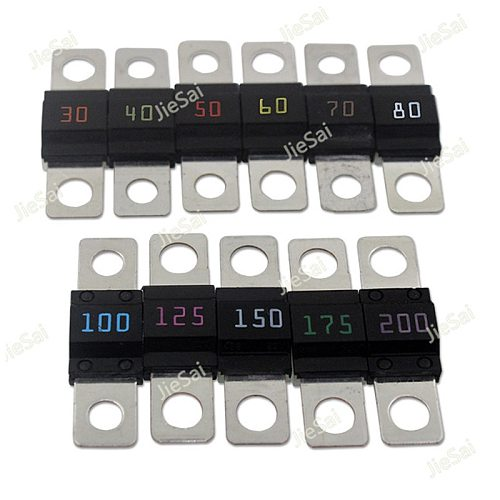 5 Pcs Screw Type Fuse Inserts Car Insurance Tablets High Current Fuses Fuse Holder 30A 40A 50A 100A 125A 150A 175A 200A
