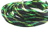 5M Expandable PET Braided Sleeve Black&Green&Yellow Wire Cable Sleeve High Density Sheathing PC Cable Organizer 4-25mm