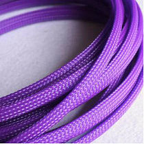 1-50M Cable Sleeves 3-25mm Purple Snakeskin Mesh Wire Protecting Nylon Tight PET Expandable Insulation Sheathing Braided Sleeves