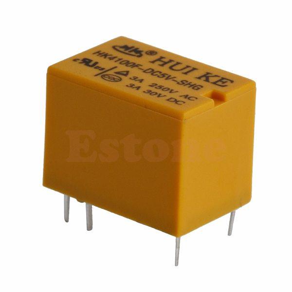 1/5/10pcs JRC-21F 5V HK4100F-DC5V-SHG Volt Power Relay 6PIN