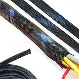 Dropship 5M 10M 8mm Braided Sleeves Wire Protecting Nylon Insulation Sheathing PET Expandable Braided Cable Sleeve