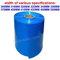 1m 18650 lithium battery RC outer skin packaging repair protection PVC heat shrinkable film casing insulation shrink tube