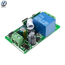 AC 220V Relays 1 Channel Wireless Relay Remote Control Light Switch Receiver Module Support RF Transmitter Timmer Delay Relay