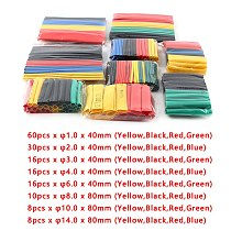 164pcs/Set Heat Shrink Tube Heat Shrinkage Polyolefin Shrink Kit Assorted Insulated Sleeving Tubing Wrap Wire Cable Sleeve Kit