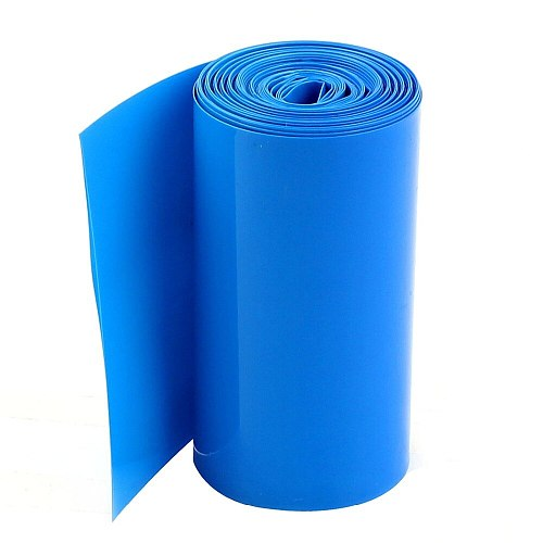 Uxcell Hot 2m 6.5ft Width 85mm Blue PVC Heat Shrinkable Wrap Tubing Tube Assortment Wiring Accessory for 18650 Warp Battery Pack