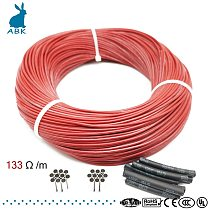 100meters 133 ohm Silicone rubber carbon fiber heating cable heating wire DIY special heating cable for heating supplies
