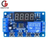 10A 12V Time Relay Adjustable Time Delay Relay Module LED Digital Timming Relay Timer Delay Trigger Switch for Motor LED