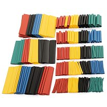 328Pcs/set Sleeving Wrap Wire Car Electrical Shrinkable Cable Tube kits Heat Shrink Tube Tubing Polyolefin 8 Sizes Mixed Color