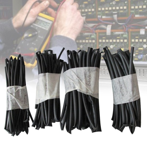 4PCS/Set Wrap Wire 3mm 4mm 5mm 6mm Diameter Connector Auto Cable Repair Tools Heat Shrink Tube DIY Insulated Sheath Polyolefin