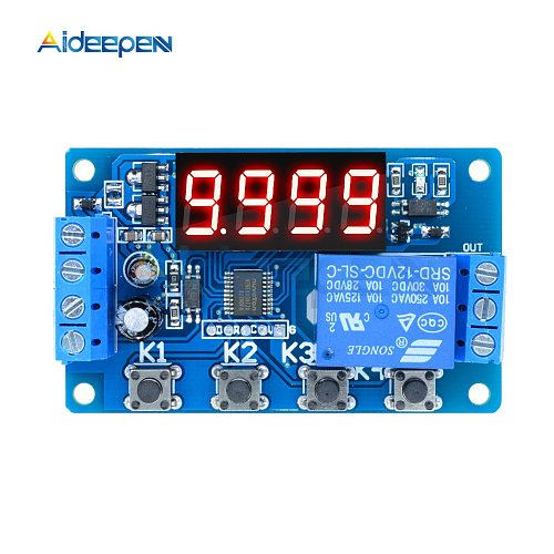 DC 5V 12V 10A Adjustable Time Delay Relay Module LED Digital Timming Relay Timer Delay Trigger Switch Timer Control Switch
