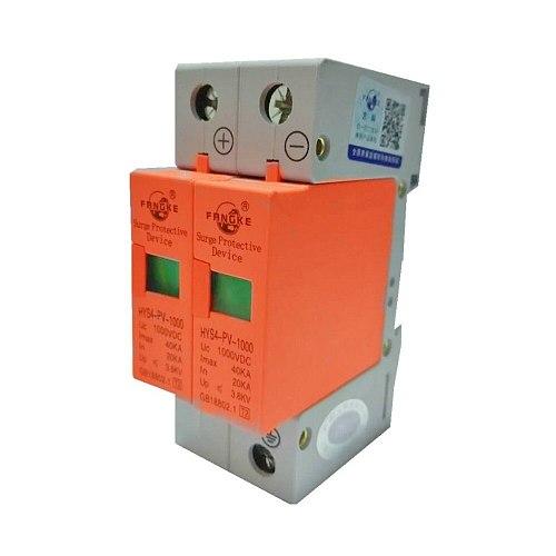 2P DC 500V 800V 1000V 20KA 40KA Surge Protective Device SPD Arrester Low Voltage House 2 Poles Surge Protector