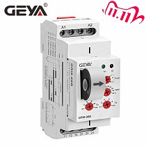 NEW GEYA GRI8-06 DC Current Sensor Relay 18mm width 2CO 8A AC/DC Current Testing Relay 24V-240V Wide Range