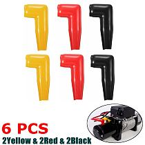 New 6pc Electric Guard Winch Motor Cable Terminal Boot Rubber Cover Black+Red+Yellow