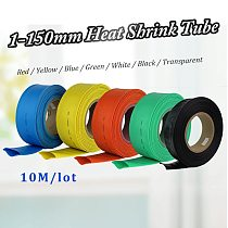 10meter 2:1 7 Colors 1mm 2mm 3mm 4mm 5mm 6mm 8mm 20mm 1mm-150mm Heat Shrink Heatshrink Tubing Tube Wire Dropshipping