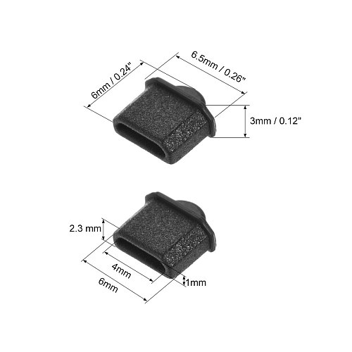 uxcell 5pcs Silicone Micro HDMI Male Port Anti-Dust Stopper Cap Cover Black for Micro HDMI Female Port and Laptop Port