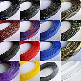 1-50M Cable Sleeves 3-12mm Clear Snakeskin Mesh Wire Protecting Nylon Tight PET Expandable Insulation Sheathing Braided Sleeves