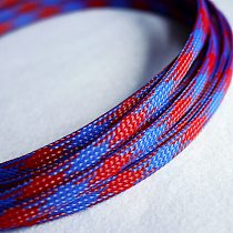 1-30Meters Cable Sleeves Snakeskin Mesh Wire Protecting Nylon Tight PET Expandable Insulation Sheathing Braided Sleeves Blue Red