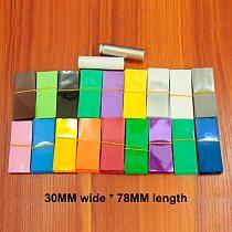 100pcs/lot 18650 lithium battery PVC heat shrinkable tube flame retardant insulating sleeve packaging film 30*78MM