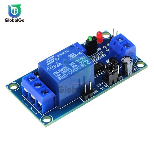 DC 12V Delay Relay Delay Turn On / Delay Turn Off Switch Module with Timer Switch Control