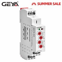 GEYA Cycle Time Relay Adjustable AC220V 16A AC/DC12V-240V Repeat Relay SPDT Timer Electric Protective AsymmetricTime Relay