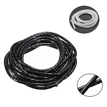 5M/10M Black/White Spiral Wrapping Wire Organizer Sheath Tube Flexible Manage Cord 6mm Wire Cable Sleeves for PC Computer Home