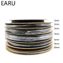 1 Roll Reel 2:1 Black 1 2 3 5 6 8 10mm Diameter Heat Shrink Heatshrink Tubing Tube Sleeving Wrap Wire Sell DIY Connector Repair