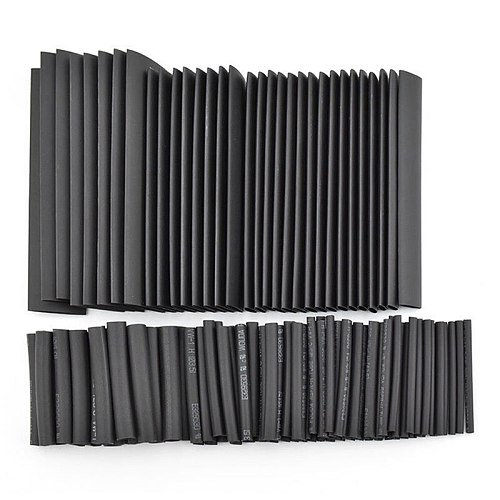 8 Meter/set 2:1 Black Heat Shrink Tube 1 2 3 4 5 6 8 10mm Heat Shrink Tubing DIY PVC Tube 10mm Termoretractil Sleeving Connector