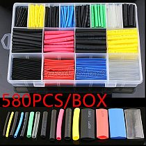 580pcs/530pcs/260pcs Assortment Electronic 2:1 Wrap Wire Cable Insulated Polyolefin Heat Shrink Tube Ratio Tubing Insulation