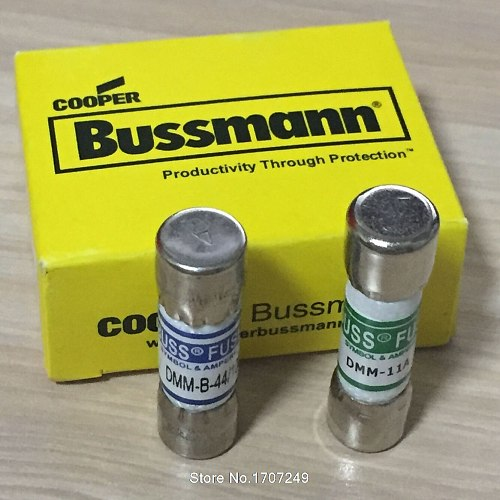 DMM-B-11A + DMM-B-44/100 1000VAC/DC 10*38MM 11A + 10*35mm 440MA BUSS FUSE for FLUKE MULTIMETER BUSSMANN DMM-11A + DMM-44/100