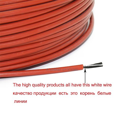 30m 12K 33ohm carbon fiber heating cable floor heating wire multipurpose new infrared high quality heating cable