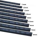 Round Diameter 1mm/1.5mm/2mm/2.5mm/3mm/3.5mm/4mm/5mm/6mm/8mm/10mm/Length 5M Heat Shrink Tubing Shrinkable Tube Black Wire Wrap