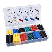 164/328 pcs Set Heat Shrink Tube Assorted Insulation Shrinkable Tube 2:1 Wire Cable Sleeve Kit can Dropship