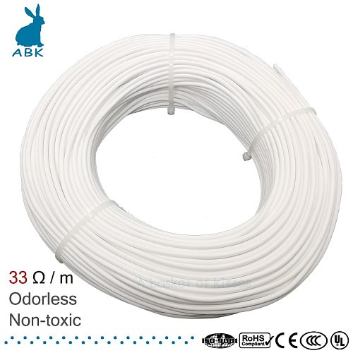 HRAG 12K 33ohm high quality carbon fiber heating cable floor heating wire electric hotline Non-toxic odorless warm heating cable