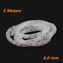 Dropship 5/10M 6mm Spiral Wrap Sleeving Band Tube Cable Protector Line Wire Management Wrap for Computer Hide Cable Winding tube