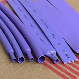 5M/Lot Purple - 2MM 4MM 6MM 8MM 10MM 12MM Assortment Ratio 2:1 Polyolefin Heat Shrink Tube Tubing Sleeving Cable Sleeves