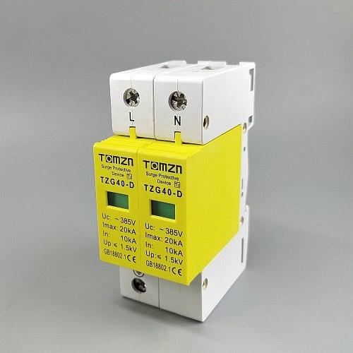 AC SPD 1P+N 10KA~20KA D ~385V  House Surge Protector protection Protective Low-voltage Arrester Device