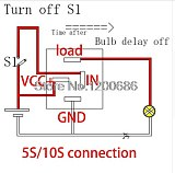 30A Automotive 12V Time Delay Relay SPDT 2S 2 second 10S 5S delay release off relay output turn off after turn off switch