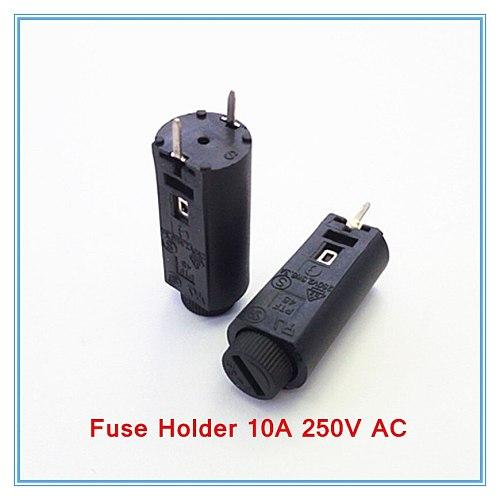 100pcs/lot 5*20mm glass fuse holders 5x20 black, insurance tube socket ,fuse holder 10A 250V AC.