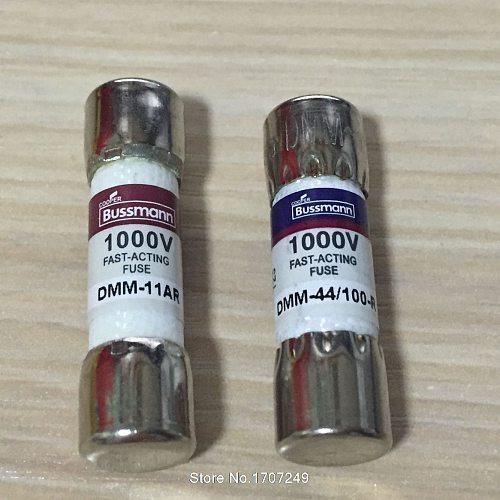 New BUSSMANN FUSE DMM-B-11A + DMM-B-44/100 11A 44mA 1000VAC/DC BUSS FUSE FOR FLUKE MULTIMETER BUSSMANN DMM-11AR + DMM-44/100-R