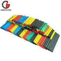 127/140/164/328/530Pcs Assorted Polyolefin Heat Shrink Tubing 2:1 Halogen-Free Tube Cable Sleeves Wrap Wire Heat Shrink Tube