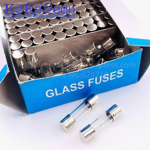 100PCS 250V 5*20 T0.2A T0.25A T0.5A T1A T1.25A T1.6A T2A T2.5A T3A T3.15A T4A T5A T6A T6.3A T8A T10A T15A 5*20mm slow Glass fuse