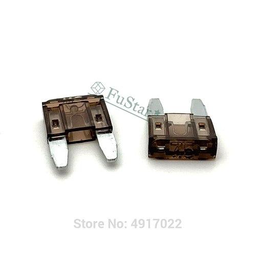 100pcs 2A 3A 5A 7.5A 10A 15A 20A 25A 30A 35A 40A Mini Blade Fuses Auto Car Truck Assortment Fuse Kit For Auto Car Truck