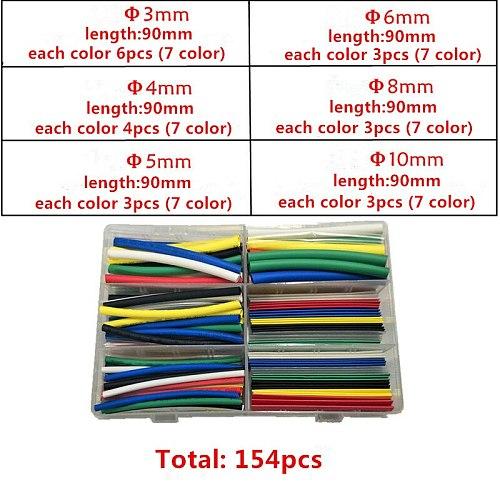 Heat shrinkable tube boxed DIY Electrical tape insulation shrink sleeve Environmentally insulation heat shrinkable tube