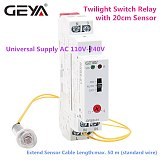 Free Shipping GEYA GRB8-01 Twilight Switch with Sensor AC110V-240V  Photoelectric Timer Light Sensor Relay
