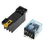 1Pc LY2NJ HH62P HHC68A-2Z Electronic  Electromagnetic Relay 10A 8PIN Coil DPDT With Socket Base AC12V,24V 36V 48V 110V,220V 380V