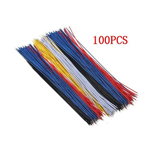 100PCS/Set Tin-Plated Breadboard PCB Solder Cable 26AWG 20cm Fly Jumper Wire Cable Tin Conductor Wires 1007-26AWG Connector Wire