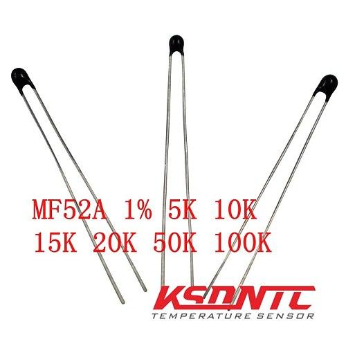 Free ship 20PCS MF52AT MF52 3950 NTC Thermistor Thermal Resistor 1% 5K 10K 15K 20K 50K 100K 502 103 153 503 104 Resistance fuse